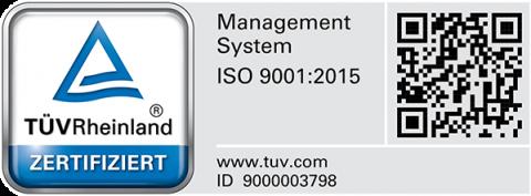 TÜV Zertifikat – ISO 9001:2015